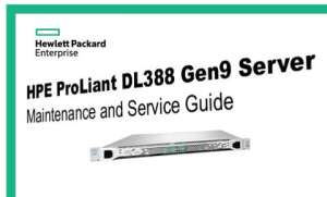 Manuales HPE Proliant DL388 Gen9