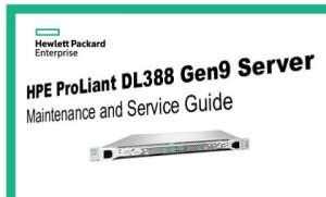 Manuales HPE Proliant DL388 Gen9