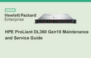 Manuales HPE Proliant DL360 gen10