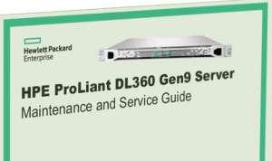 Manuales HPE Proliant DL360 Gen9