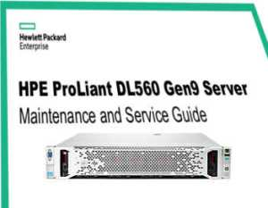 HPE Proliant DL560, manuales gen 9