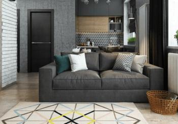 pisos decorados con alfombras
