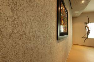 pared con diseño texturizado