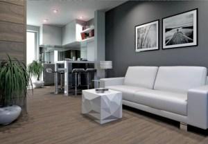 sala gris con blanco