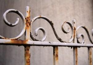 protección de casa oxidada