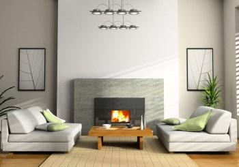 sala de estar con colores cálidos