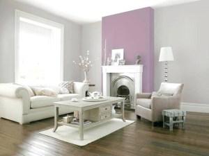 sala de estar color gris y morado pastel