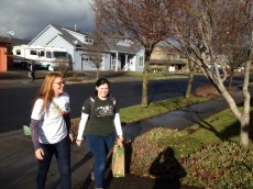 Hood River JV AmeriCorps members collect canned food for MLK Day.