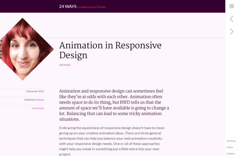 Animation in Responsive Design