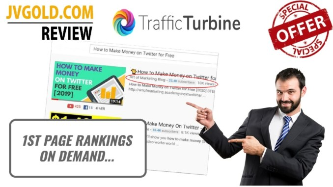 Traffic Turbine Review & Demo Video By Art Flair - Best Video Traffic Software Ever!