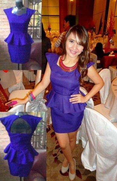 Lora's peplum dress