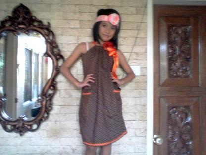 Headband and pillowcase dress