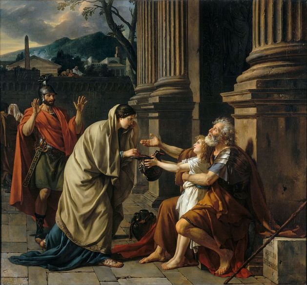 Belisar as beggar in Rome - painted by Jacques-Louis David