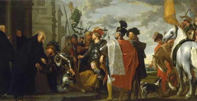 Saint Benedict receiving Totila, King of the Ostrogoths