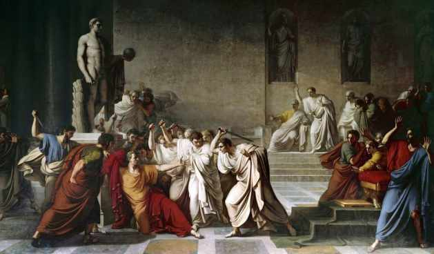 The death of Julius Caesar in the Roman Senate by Vincenzo Camuccini