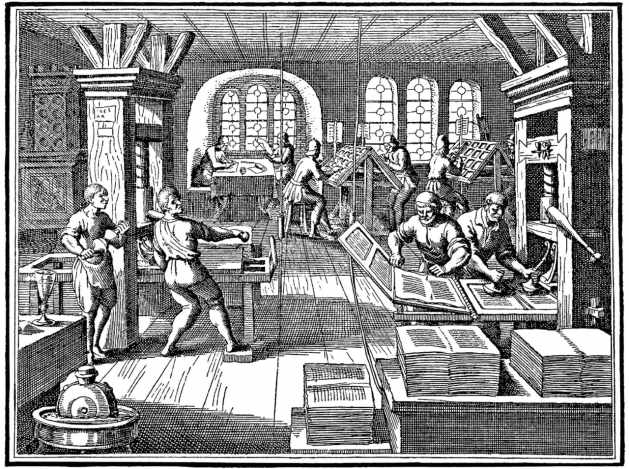 Print Shop in the Middle Age