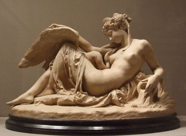 Leda and the Swan by Carrier-Belleuse, about 1870