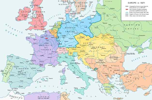 Europe after the Franco-German War of 1870/71