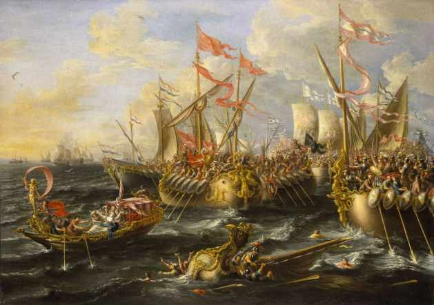 The Battle of Naulochus must have looked quite like the one at Actium pictured here