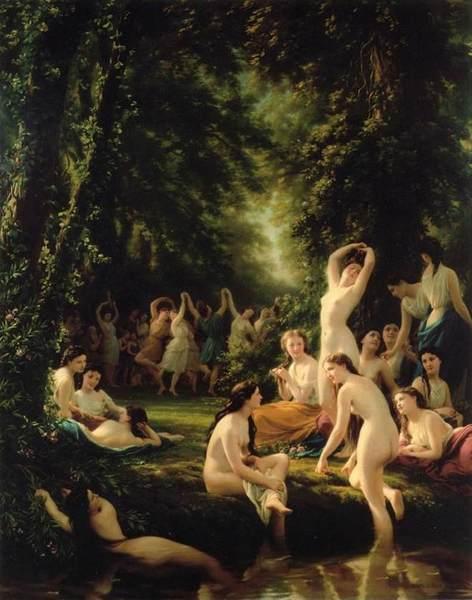 La Reine Bacchanale by Fritz Zuber-Buhler (1822-1896)