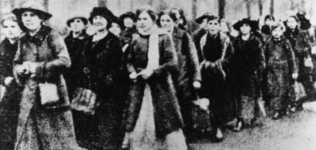 Ammunition workers on strike - Berlin, January 1918