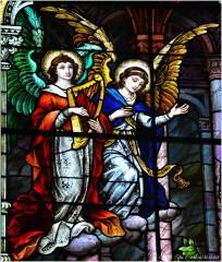 SACRED HEART WINDOW (detail), 1902, St. Michael Church, Chicago. Mayer & Company, Munich, Germany.