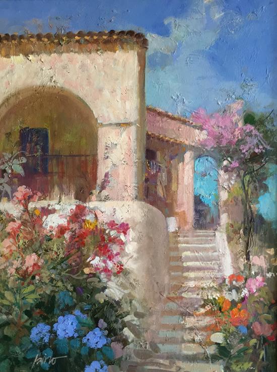 The Balcony A Pino Original Painting