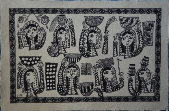 Mithila-Art-By-Rebti-Mandal