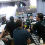 Filming classroom scene, two cameras
