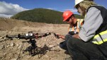 Prepping drones to film title sequence of TV show