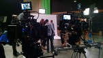 Two cameras on the soundstage