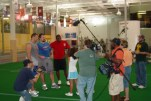 Camera operating here with the New York Giants, I'm on the left