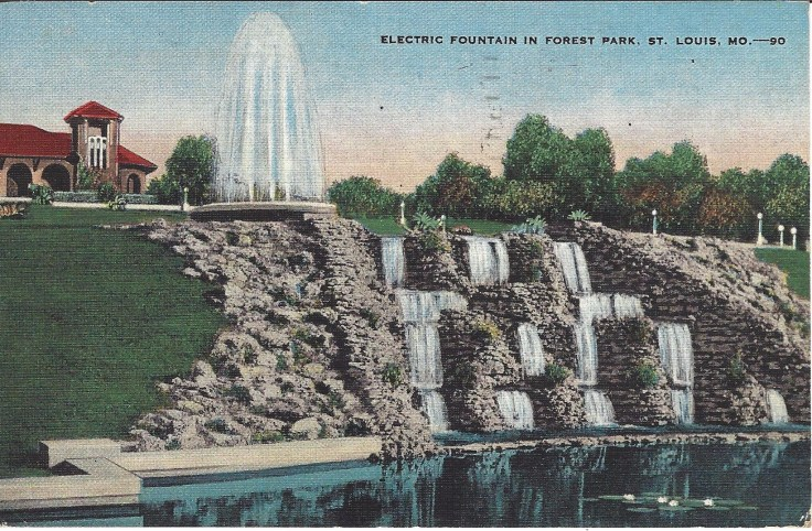 Electric Fountain Forest Park, St Louis