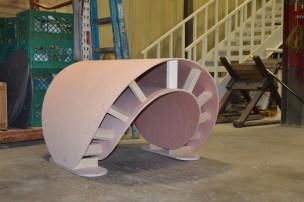 Wave sculpture in progress