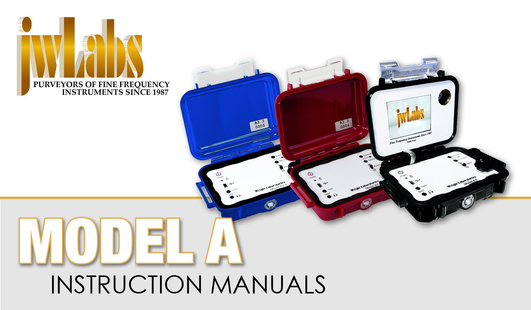Instruction manual rife machine jwlabs model A
