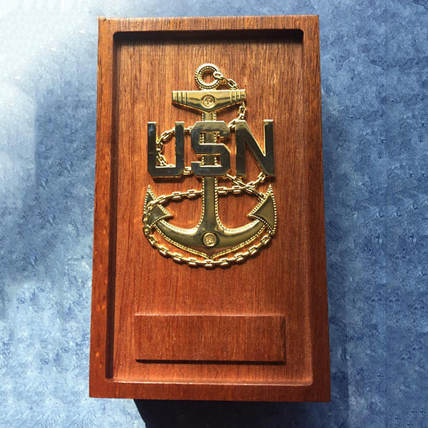 Decorative Metal Box With Anchor