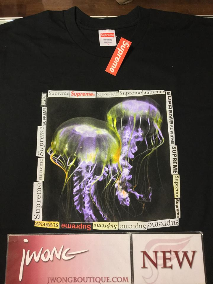 a16612c47908 2018 Supreme Jellyfish Tee Black | Jwong Boutique