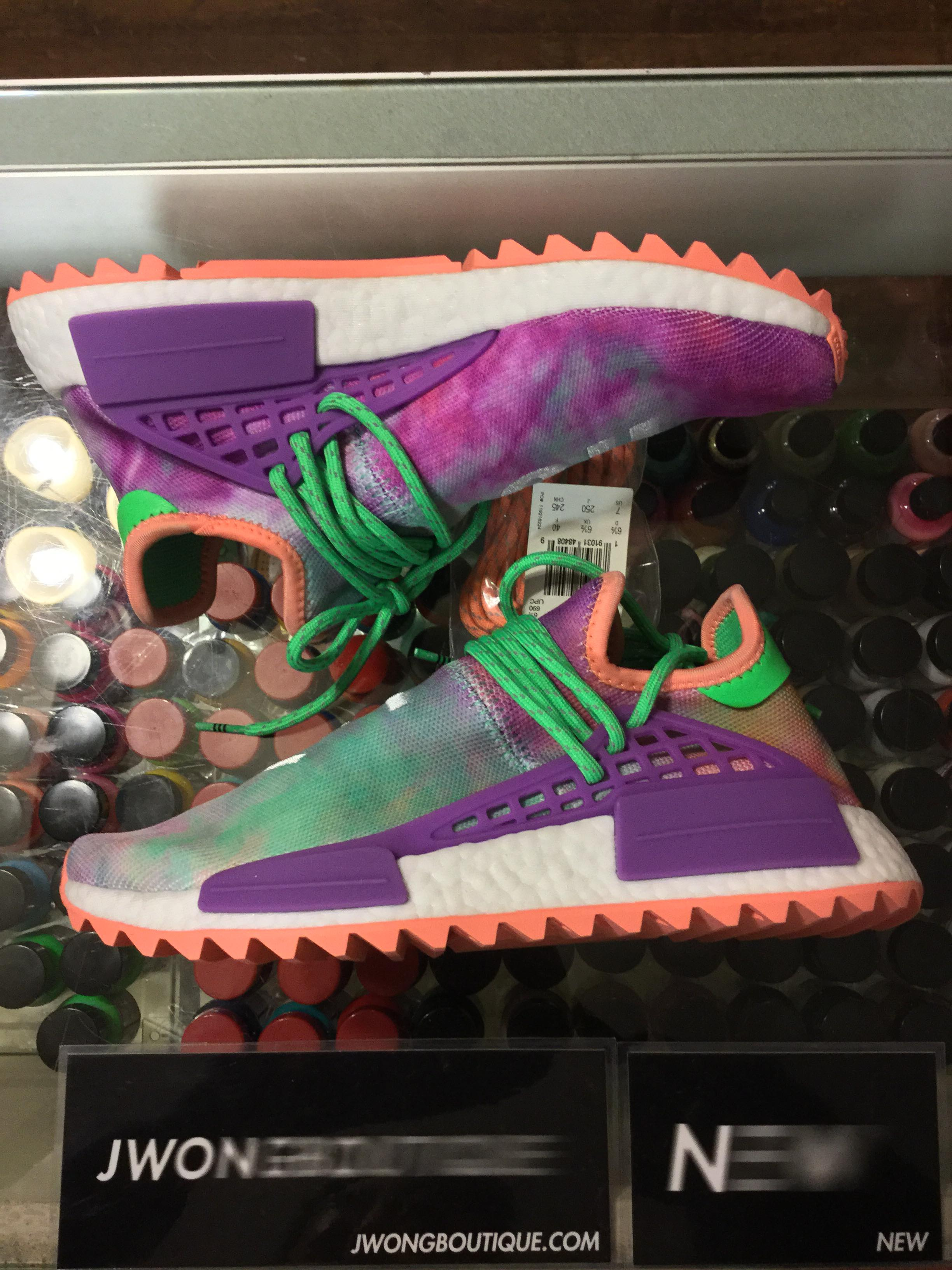 717e8c09d discount 2018 adidas pharell williams human race nmd holi festival chalk  coral jwong boutique 89820 a5da0