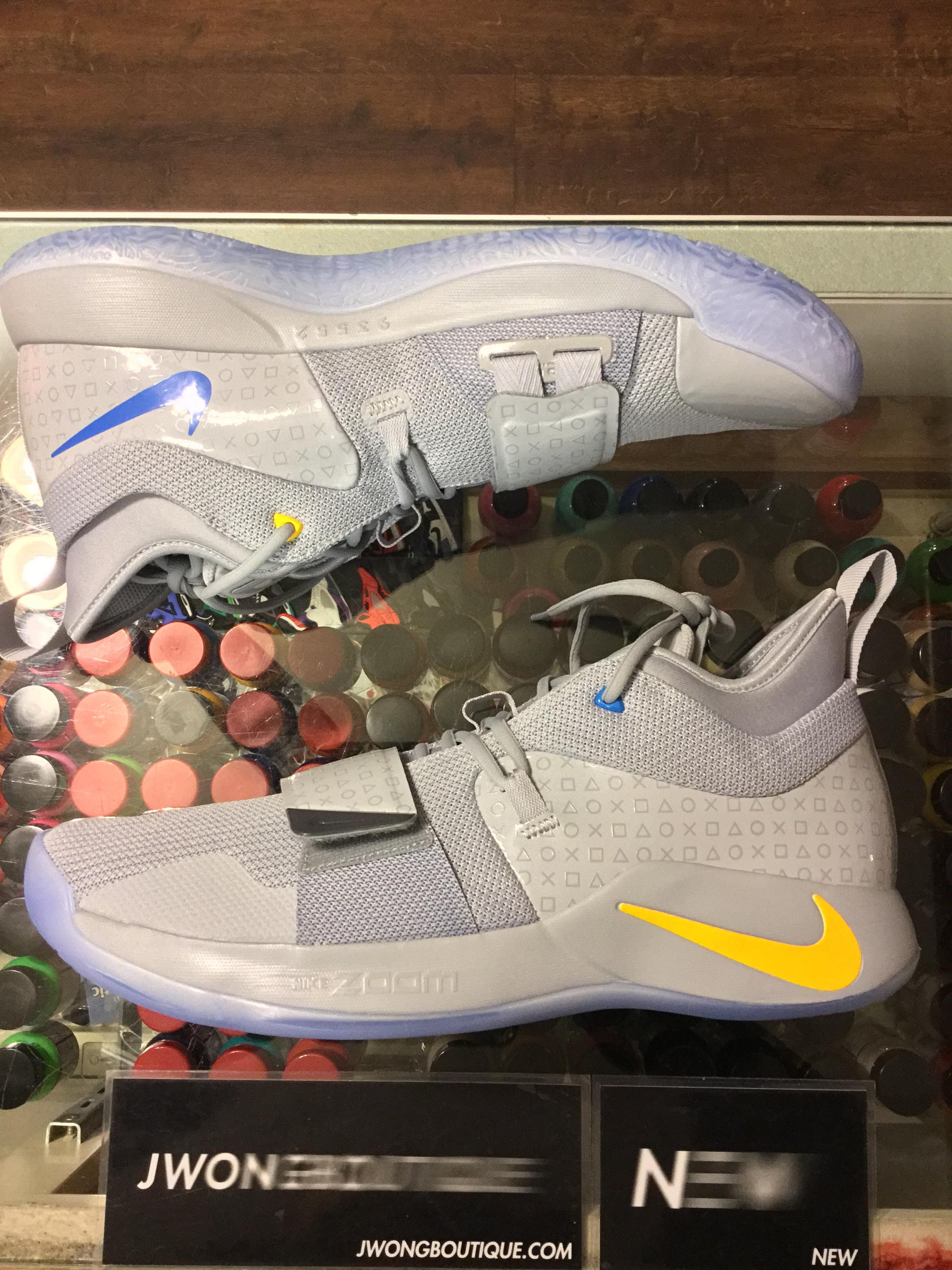wholesale dealer d16db e006c 2018 Nike PG 2.5 Playstation Grey