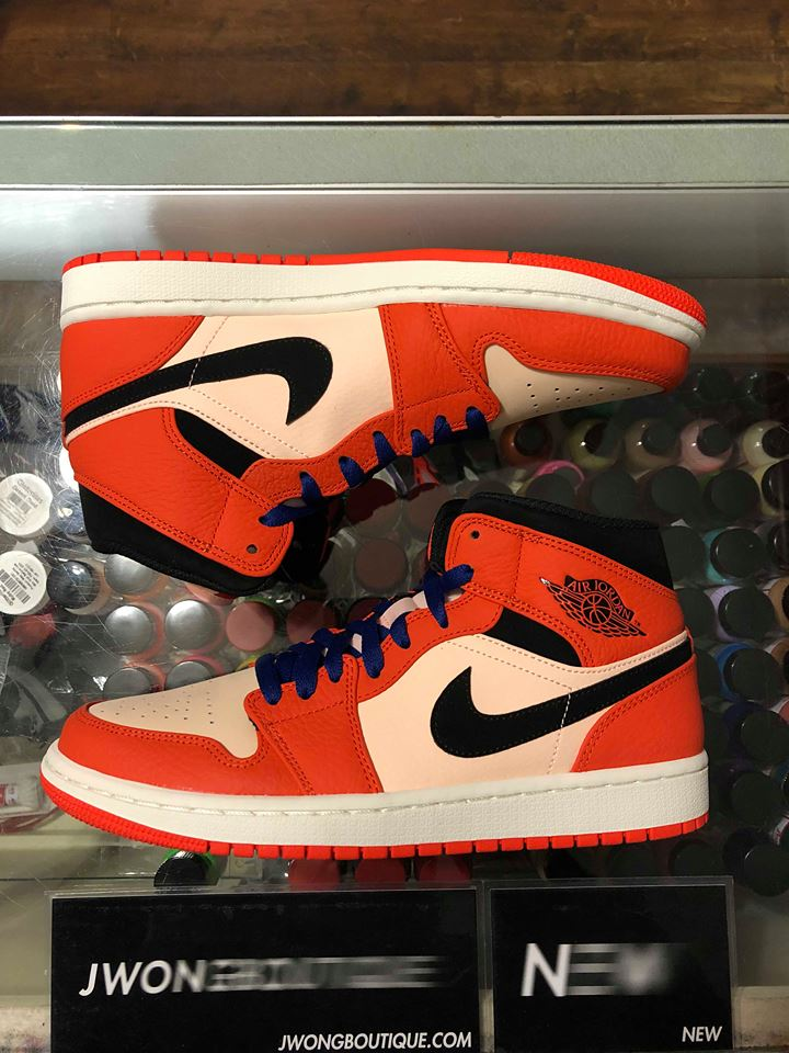 2018 Nike Air Jordan I Mid SE Team Orange