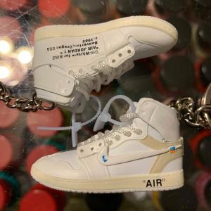 new arrival 8afcf 45cee 2018 Nike The 10 Off White Air Force 1 High White 3D Keychain