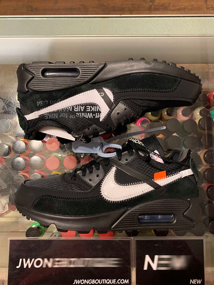 low priced 246f7 8e376 2019 Nike The 10 Off White Air Max 90 Black Men