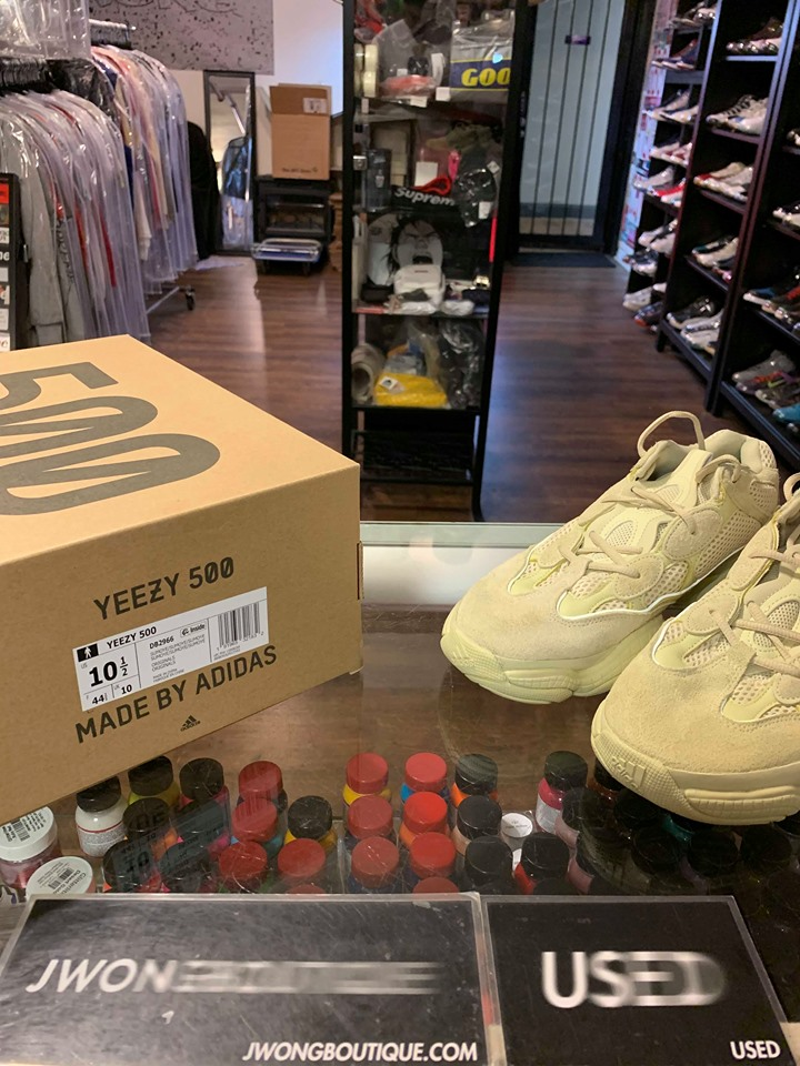 low priced 70370 9c953 2018 Adidas Yeezy Boost 500 Super Moon Yellow