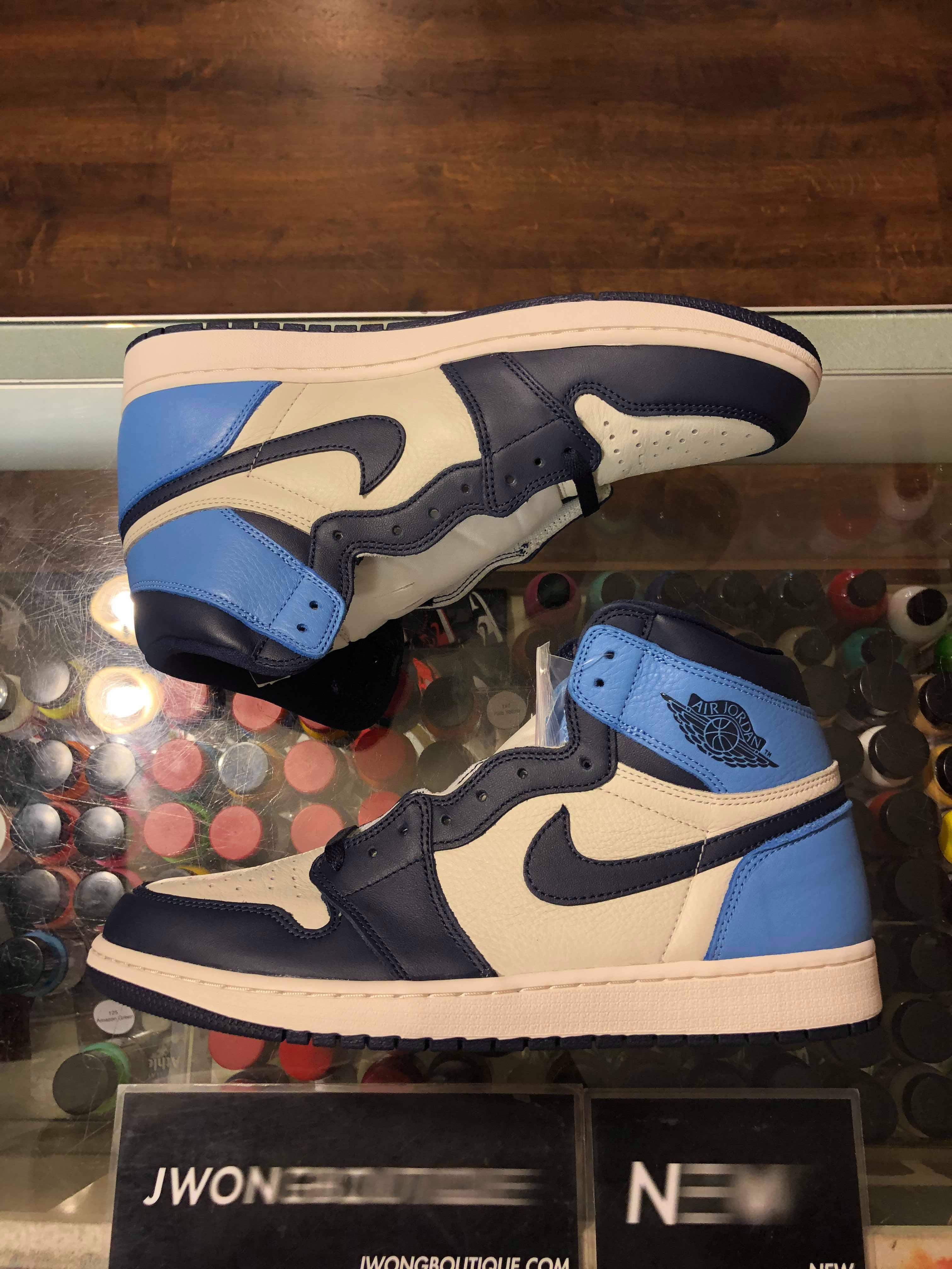 2019 Nike Air Jordan I Retro High Obsidian Unc Youth Jwong Boutique
