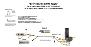 Adapting Sennheiser G3 wired mics for use with Sony UWPs  Equipment  JWSOUNDGROUP