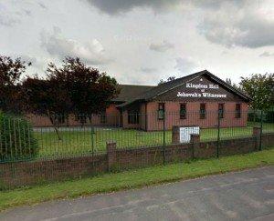 Una imagen de Google Earth del salón del reino compartido por Nueva Moston y Failsworth congregaciones en Manchester
