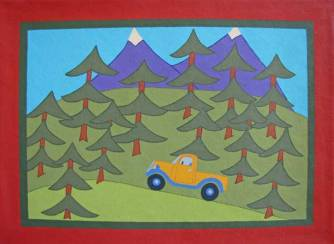 Truck in the Trees Pet Food Mat