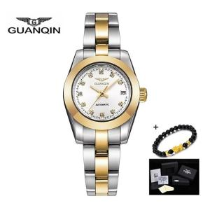 GUANQIN Automatic Self Wind Watch Women Watches Luxury mechanical watches for ladies Bracelet Girls Wristwatch Montre Femme 2019