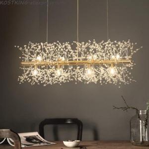 Snowflake Chandelier Nordic Style Lamp Creative Personality Crystal Model Atmosphere Light Luxury Living Room Lighting