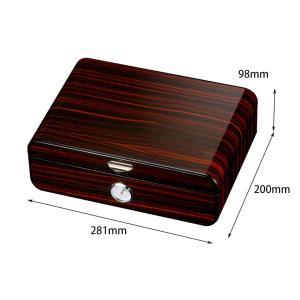 Galiner Classic Wood Cigar Box Cedar Lined Piano Finished Humidor Box Home Large Capacity Cigar Humidor Case W/ Humidifier